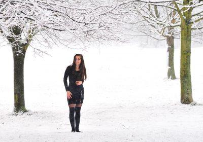 Winter und Homestudioshooting mit Alexandra