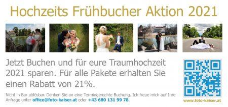 Hochzeits Frühbucher Aktion